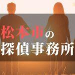 松本市でおすすめの浮気調査・不倫調査の探偵事務所