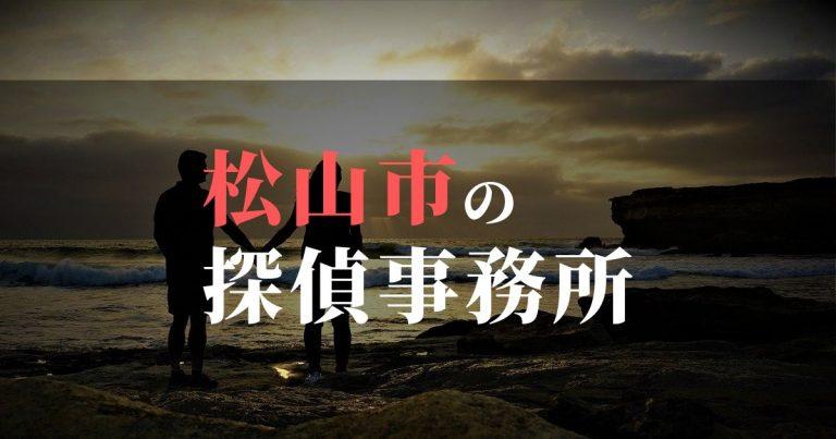 松山市で浮気調査を依頼するならここ!おすすめ探偵事務所の費用・相場と申込の流れは?!